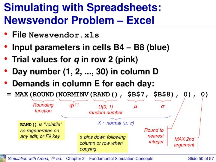 Simulating with Spreadsheets: