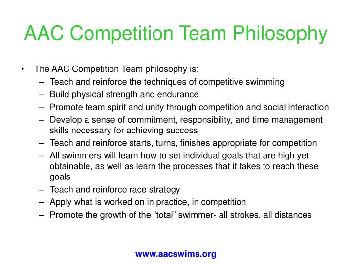 AAC Competition Team Philosophy