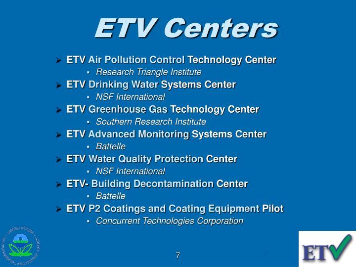 ETV Centers