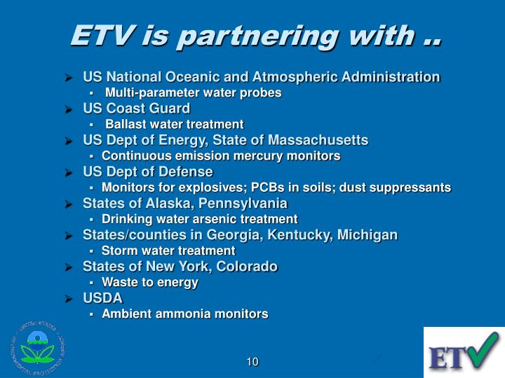 ETV is partnering with ..