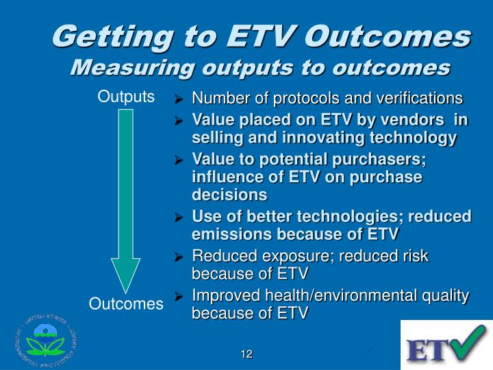 Getting to ETV Outcomes
