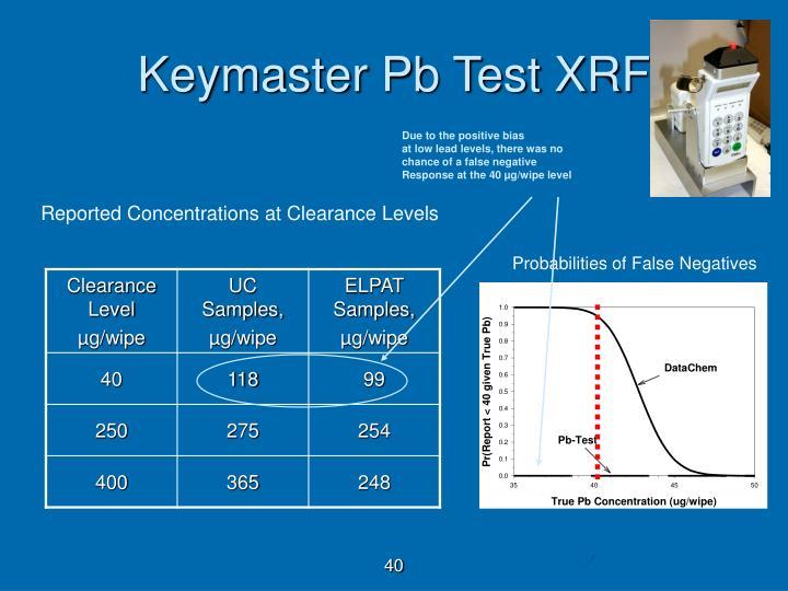 Keymaster Pb Test XRF