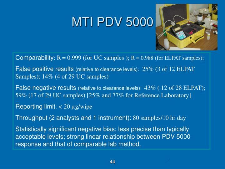 MTI PDV 5000