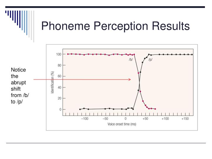 Phoneme Perception Results