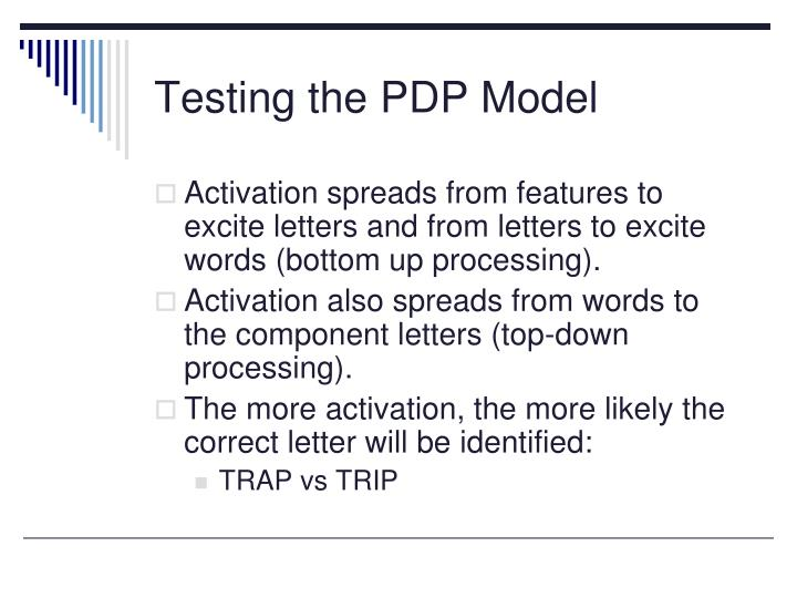 Testing the PDP Model