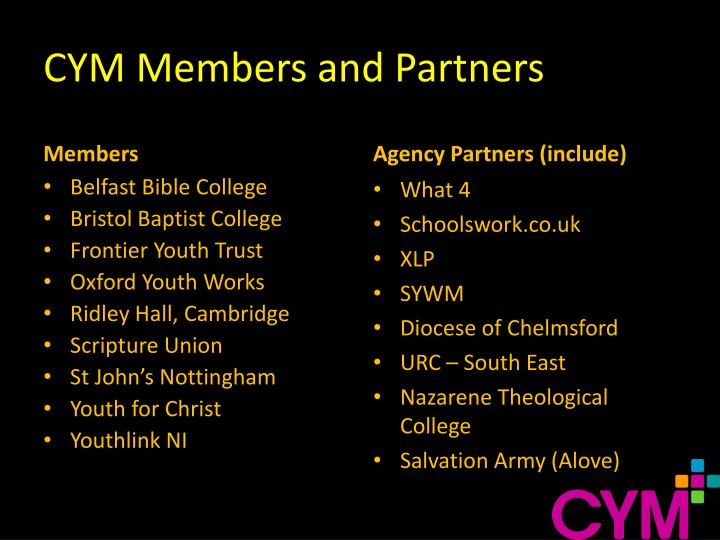 Cym members and partners