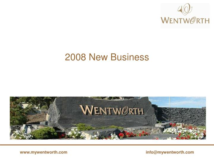2008 New Business