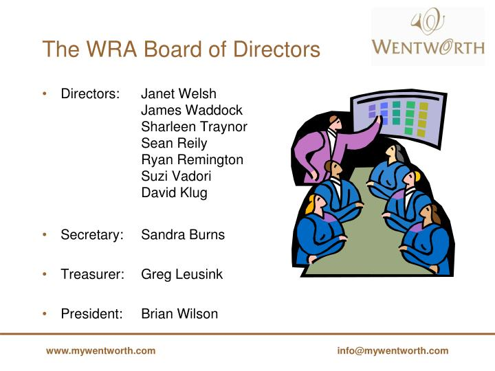 The WRA Board of Directors
