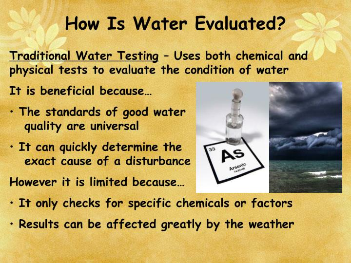 How Is Water Evaluated?