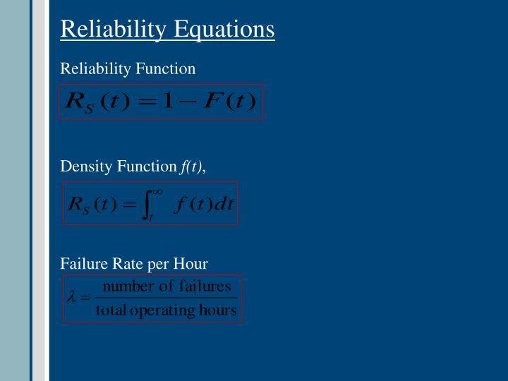 Reliability Equations