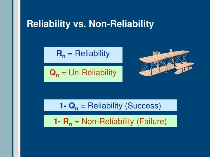 Reliability vs. Non-Reliability