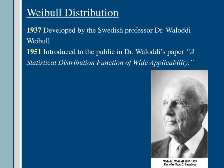 Weibull Distribution