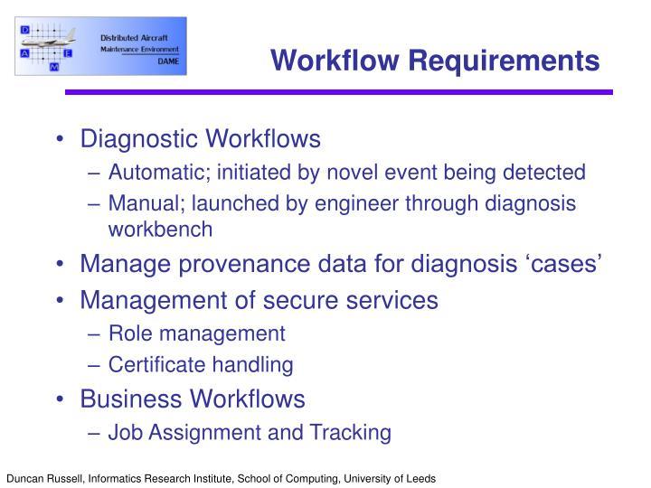 Workflow Requirements