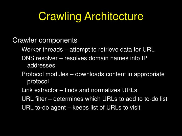 Crawling Architecture