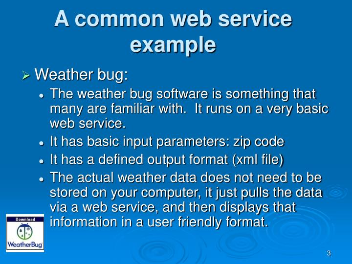 A common web service example