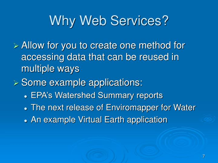 Why Web Services?