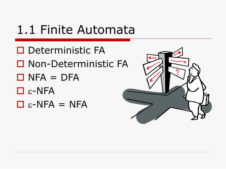 1 1 finite automata
