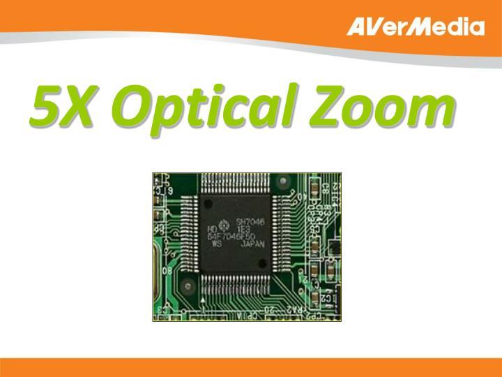 5X Optical Zoom