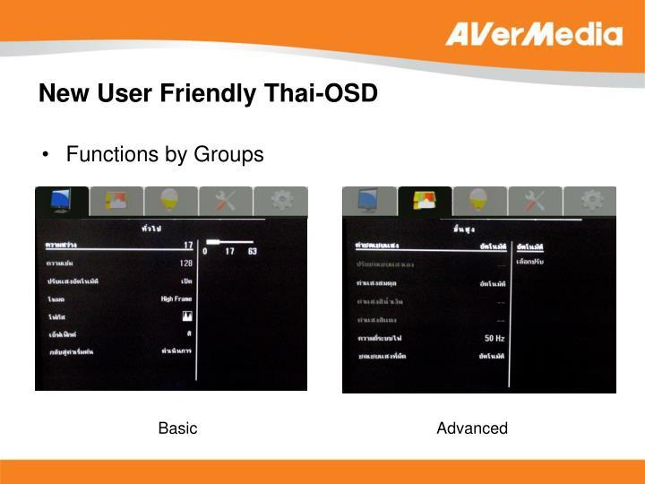 New User Friendly Thai-OSD