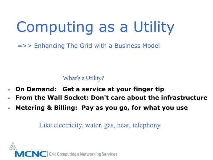 Computing as a Utility