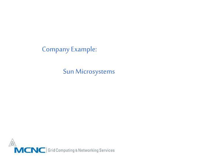 Company Example: