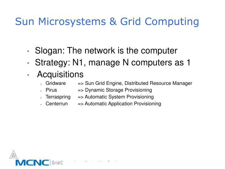 Sun Microsystems & Grid Computing