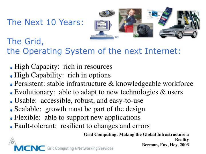 The Next 10 Years: