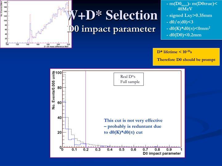 W+D* Selection