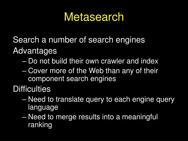 Metasearch