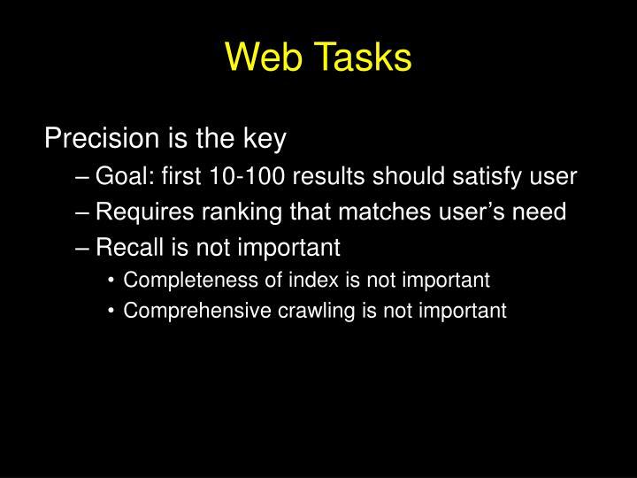 Web Tasks