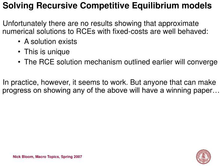 Solving Recursive Competitive Equilibrium models