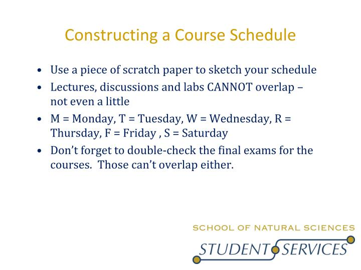 Constructing a Course Schedule