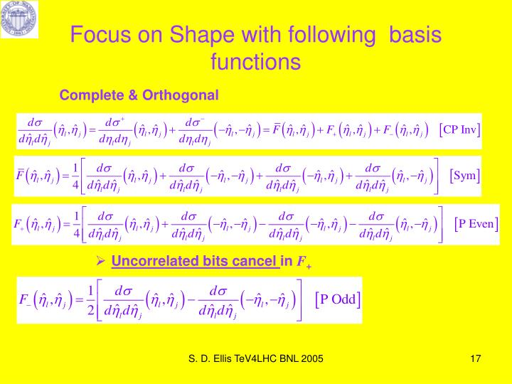 Focus on Shape with following  basis functions