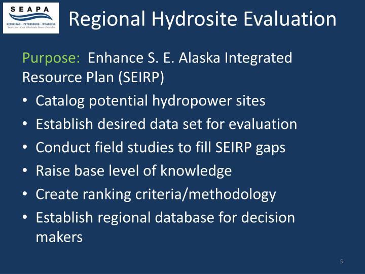 Regional Hydrosite