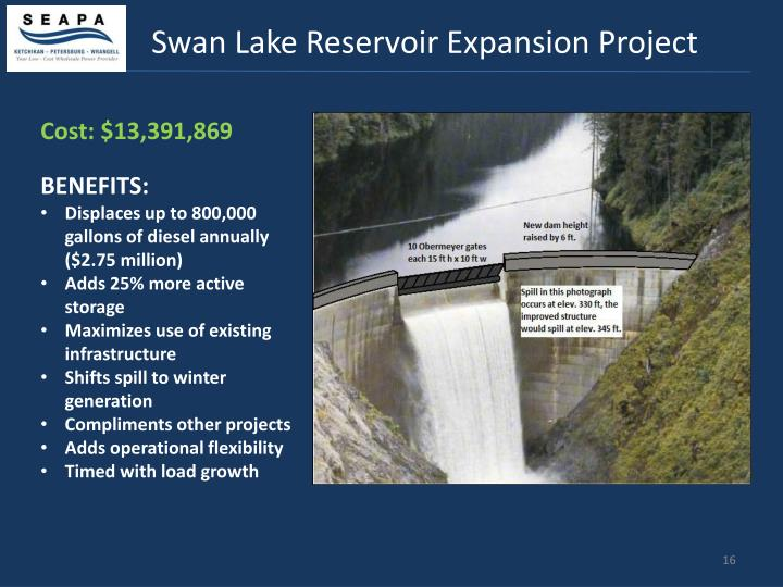 Swan Lake Reservoir Expansion Project