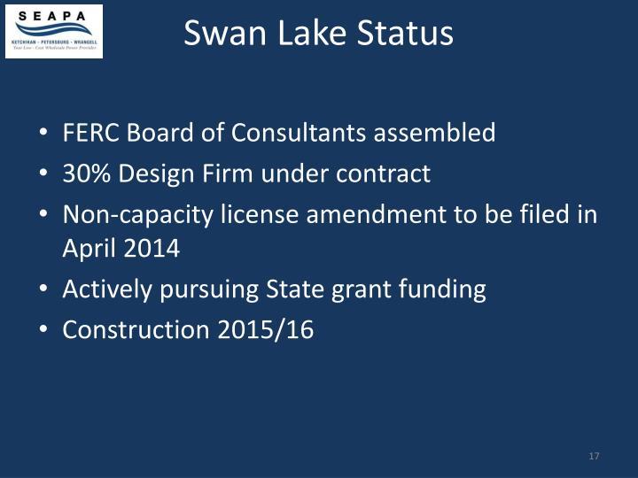 Swan Lake Status
