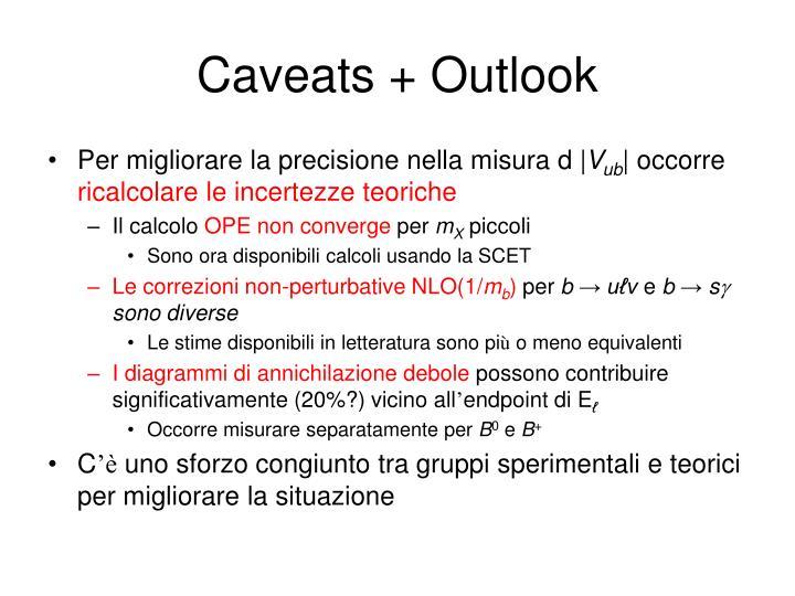 Caveats + Outlook