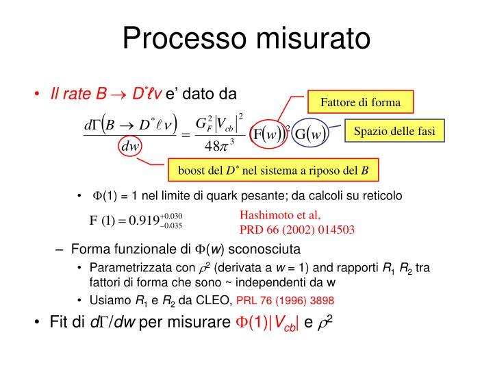 Processo misurato