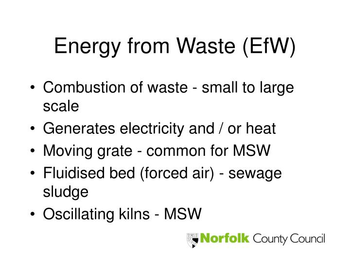 Energy from Waste (EfW)