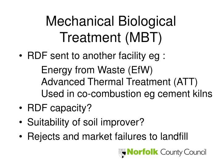 Mechanical Biological Treatment (MBT)