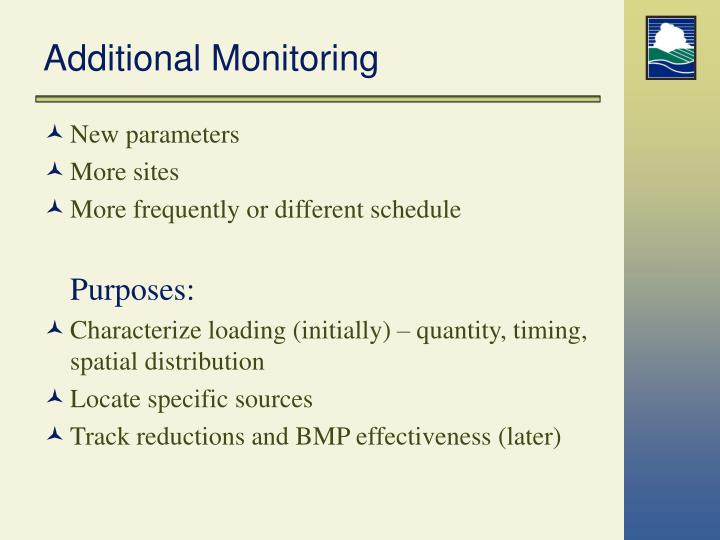 Additional Monitoring