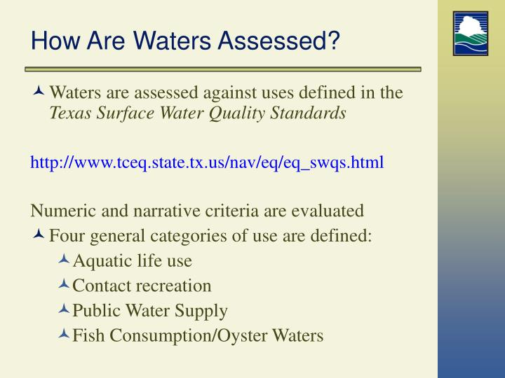 How Are Waters Assessed?