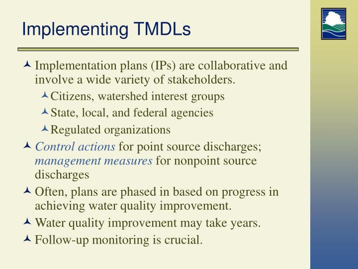 Implementing TMDLs