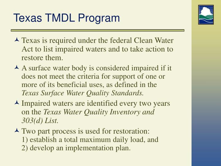Texas TMDL Program