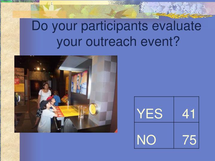 Do your participants evaluate