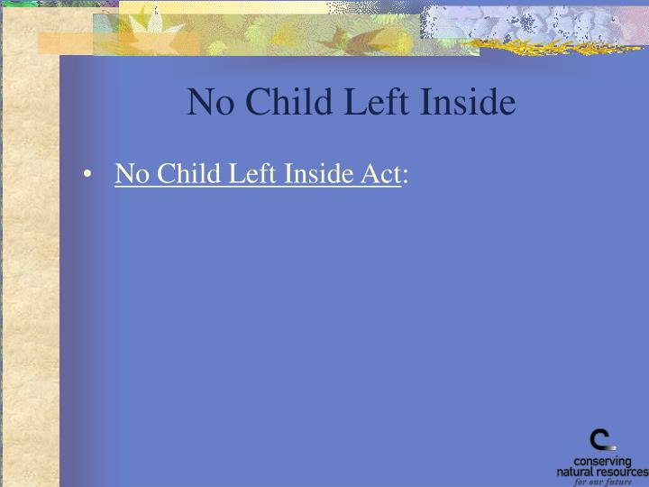No Child Left Inside