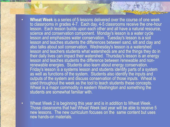Wheat Week