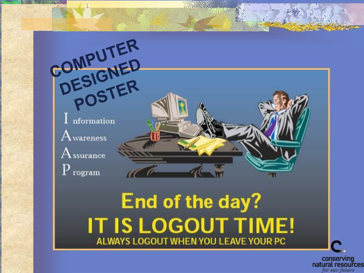 COMPUTER DESIGNED POSTER