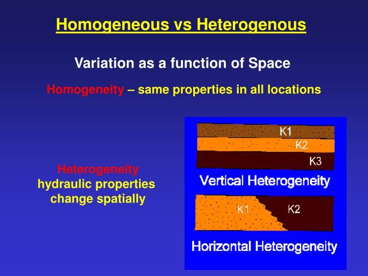 Homogeneous vs Heterogenous
