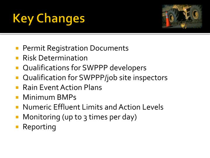 Key Changes